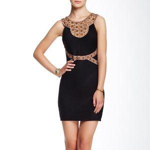 FREE PEOPLE black/brown Nefertiti Mirror dress L